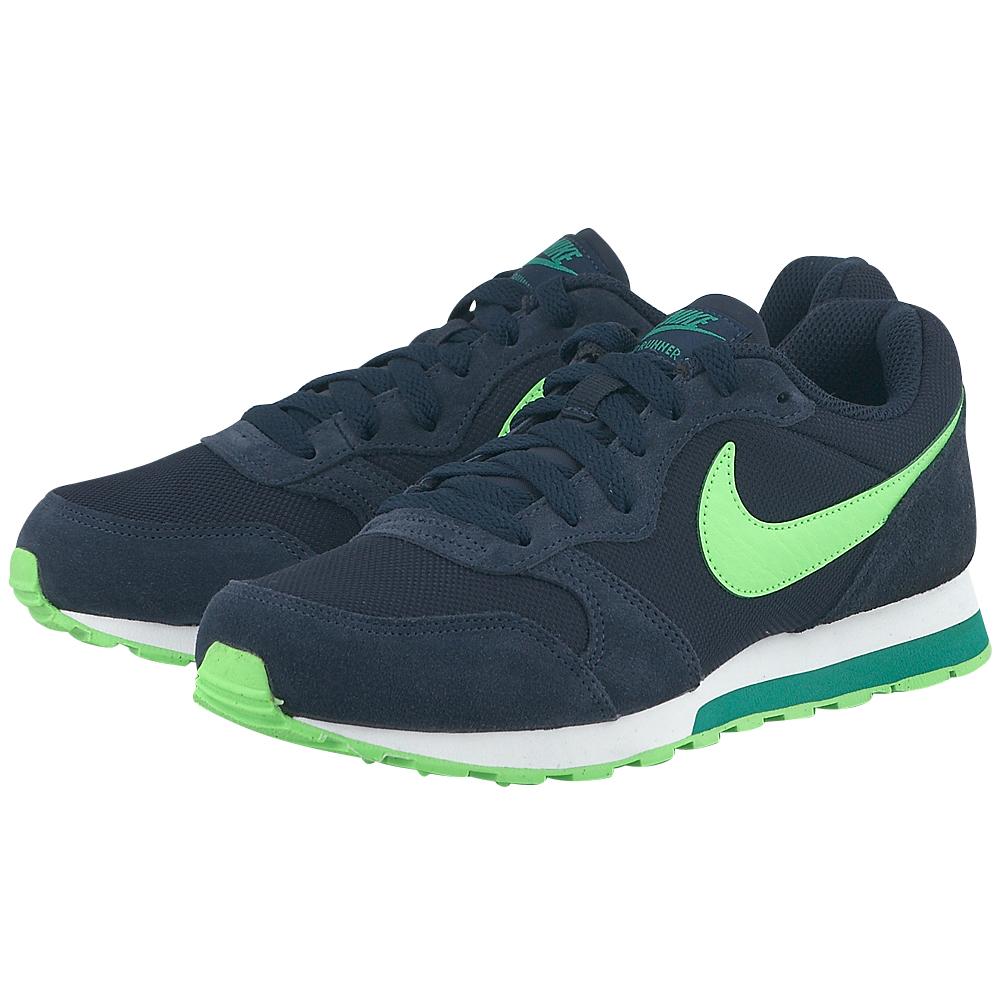 Nike Nike MD Runner 2 807316403 3 ΜΠΛΕ ΣΚΟΥΡΟ