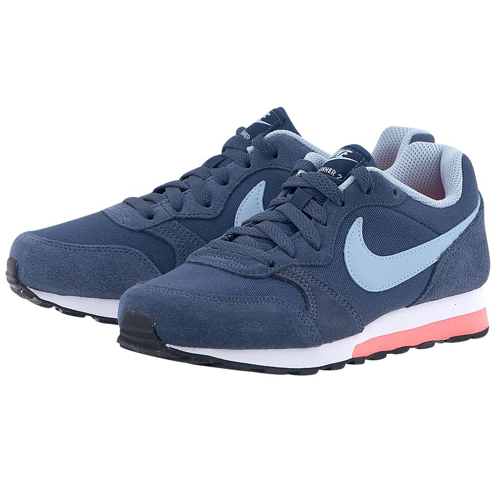 Nike - Nike MD Runner 2 807319-405 - ΜΠΛΕ ΣΚΟΥΡΟ