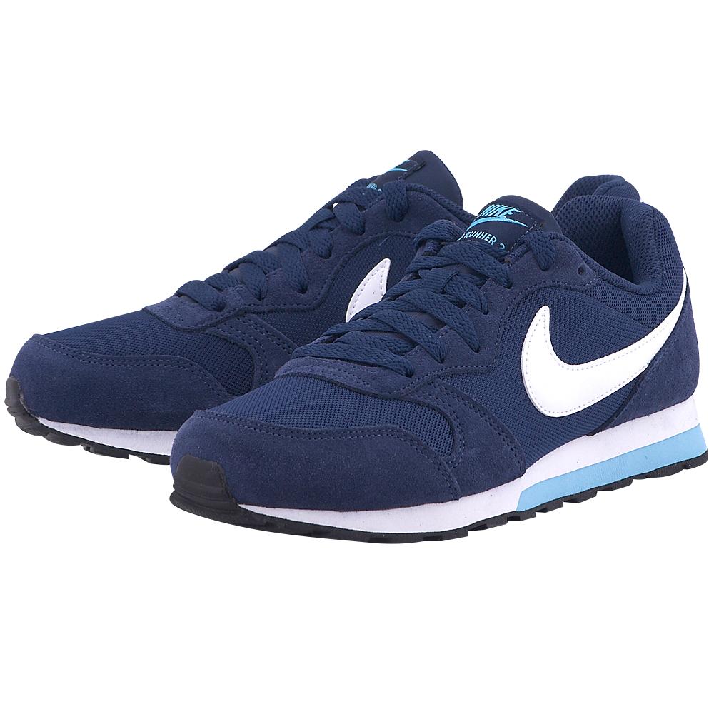 Nike - Nike MD Runner 2 (GS) 807319403-3 - ΜΠΛΕ ΣΚΟΥΡΟ