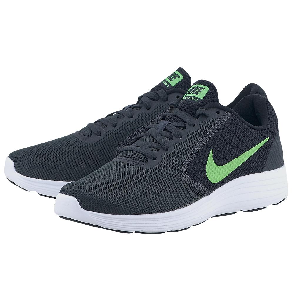 Nike - Nike Revolution 3 Running 819300-018 - ΓΚΡΙ ΣΚΟΥΡΟ