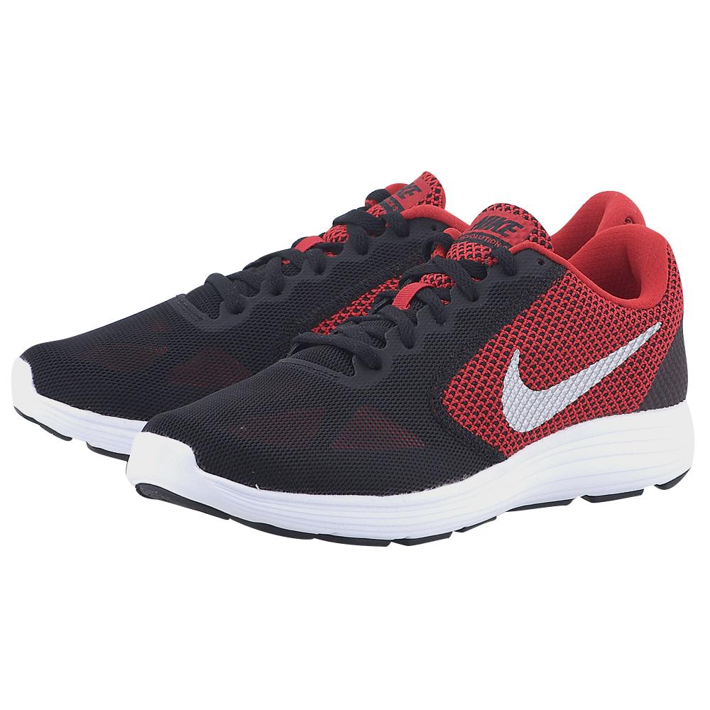 Nike – Nike Revolution 3 819300600-4. – ΜΑΥΡΟ/ΚΟΚΚΙΝΟ