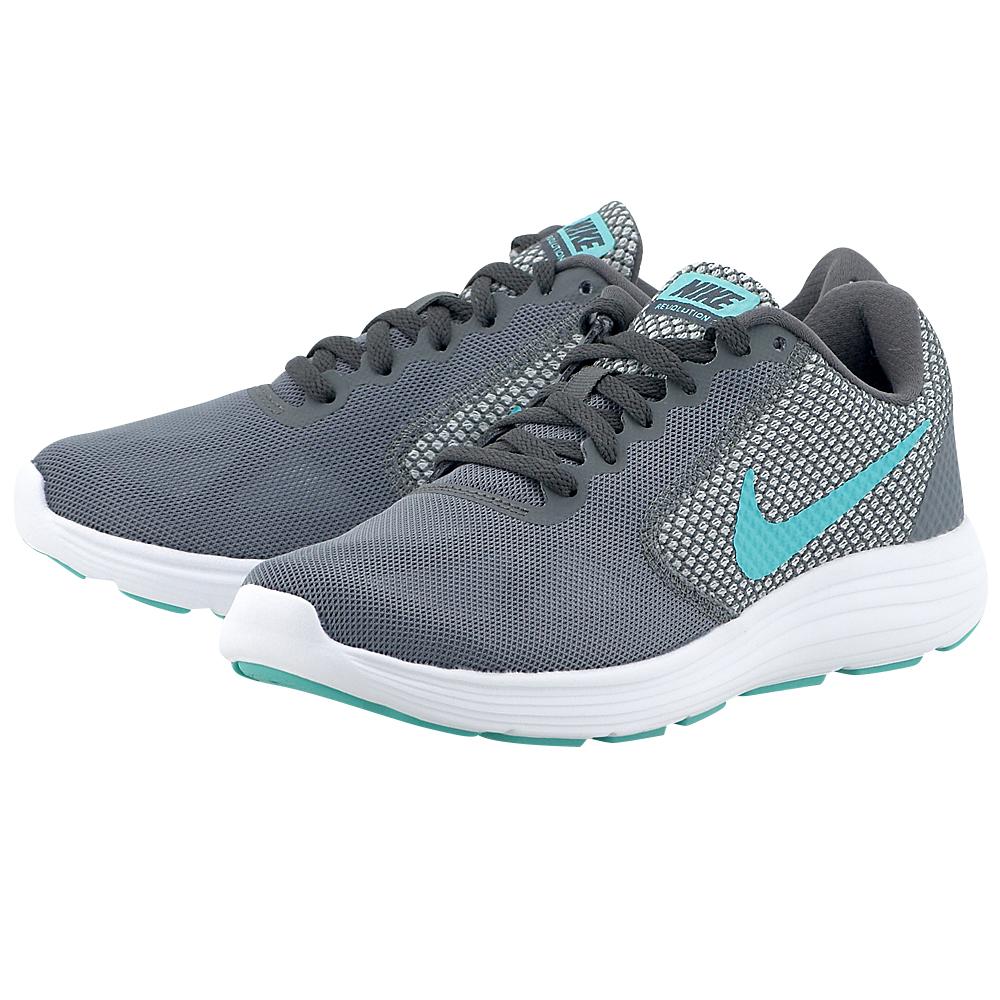 Nike - Nike Revolution 3 Running 819303-018 - ΓΚΡΙ ΣΚΟΥΡΟ