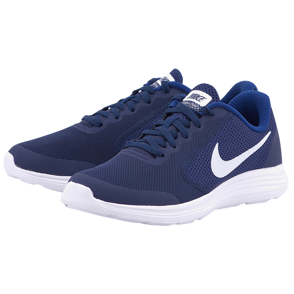 Nike – Nike Revolution 3 (GS) 819413-406 – ΜΠΛΕ ΣΚΟΥΡΟ