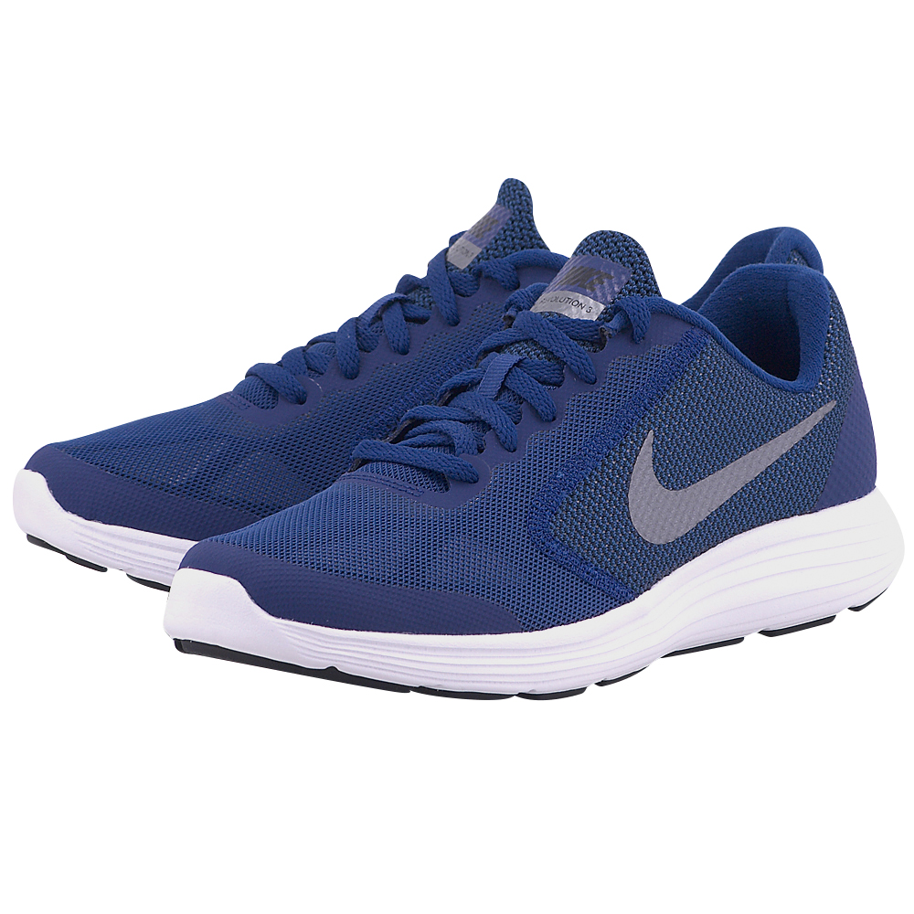 Nike – Nike Revolution 3 (GS) Running 819413400-3 – ΜΠΛΕ ΣΚΟΥΡΟ