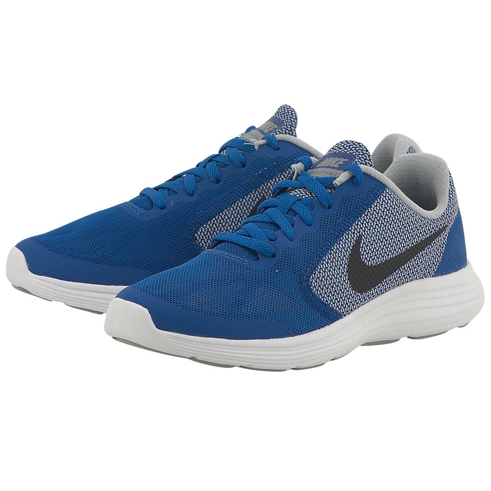 Nike – Nike Revolution 3 (GS) Running Shoe 819413402-3 – ΜΠΛΕ/ΓΚΡΙ