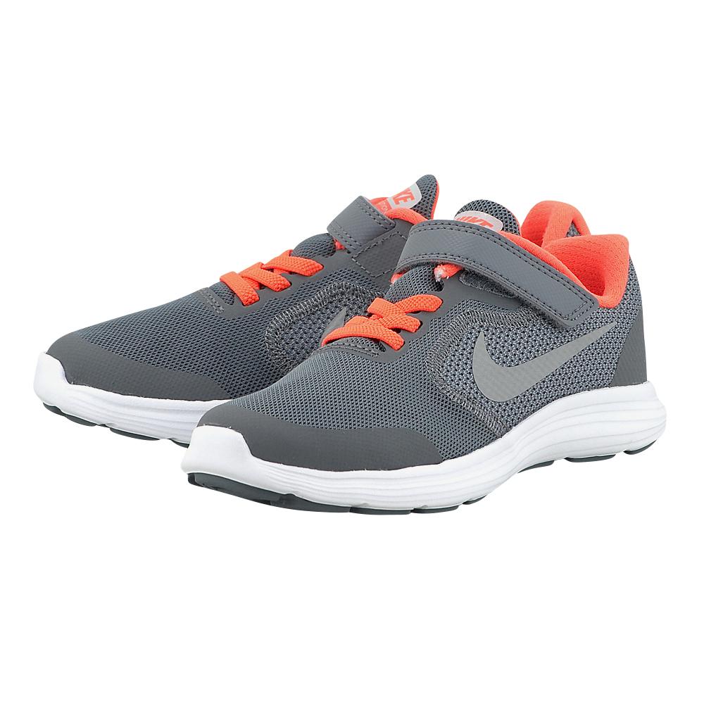Nike - Nike Revolution 3 (GS) Running 819414-012 - ΓΚΡΙ ΣΚΟΥΡΟ
