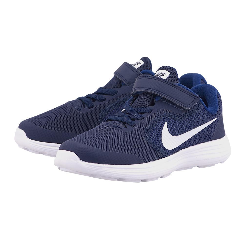 Nike – Nike Revolution 3 819414-406 – ΜΠΛΕ ΣΚΟΥΡΟ