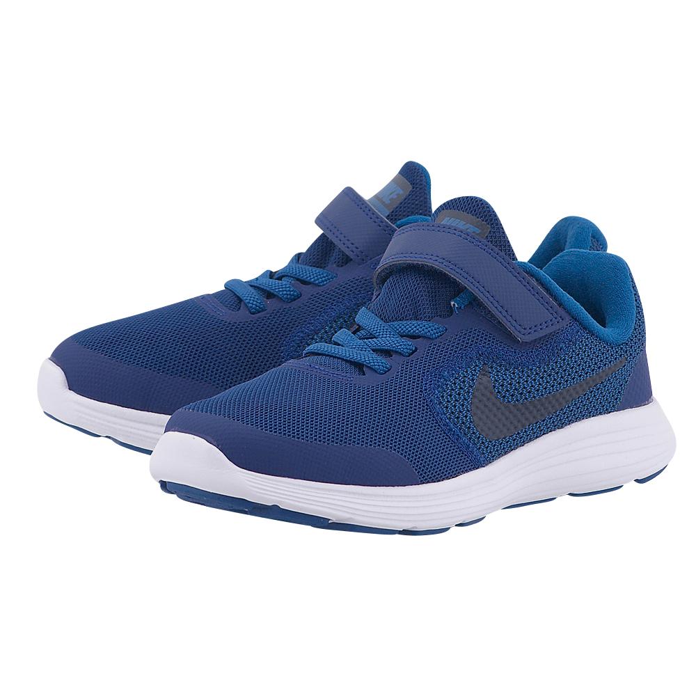 Nike – Nike Revolution 3 (PS) 819414-408 – ΜΠΛΕ ΣΚΟΥΡΟ