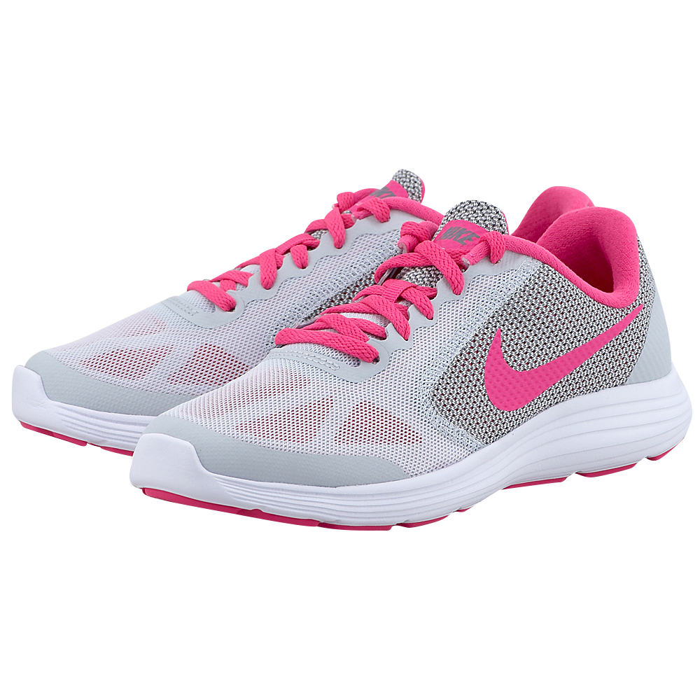 Nike – Nike Revolution 3 (GS) Running 819416007-3 – ΓΚΡΙ/ΦΟΥΞΙΑ