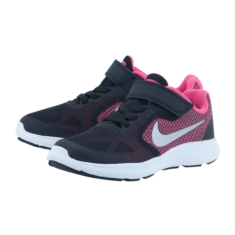 Nike – Nike Revolution 3 (PS) Pre-School Shoe 819417001-2 – ΜΑΥΡΟ/ΦΟΥΞΙΑ