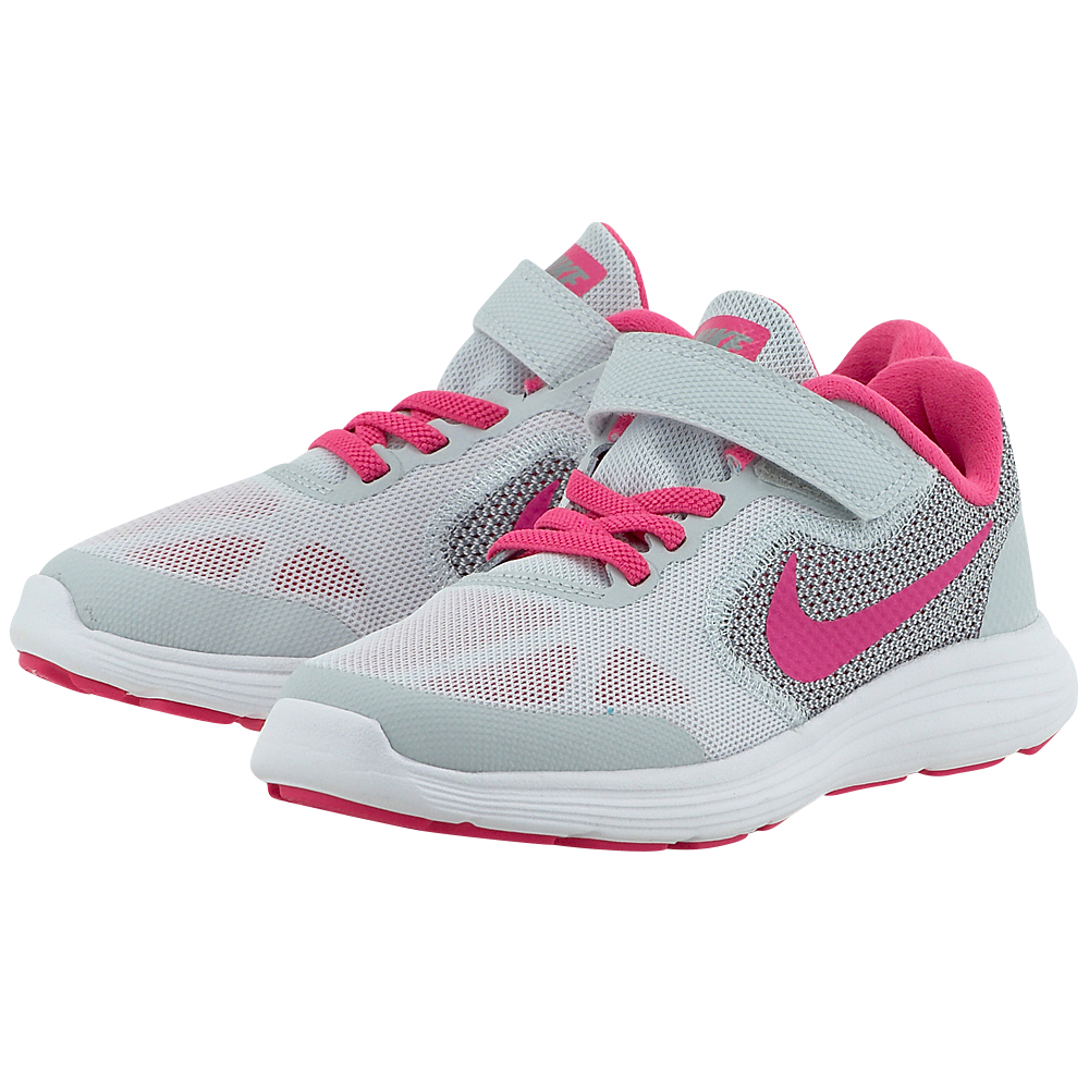 Nike – Nike Revolution 3 (PS) Pre-School Shoe 819417007-2 – ΓΚΡΙ/ΦΟΥΞΙΑ