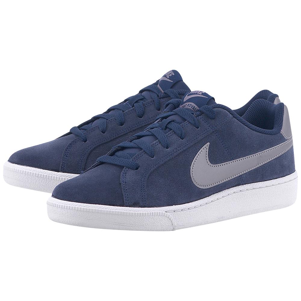 Nike - Nike Men's Court Royale Suede Shoe 819802-403 - ΜΠΛΕ ΣΚΟΥΡΟ