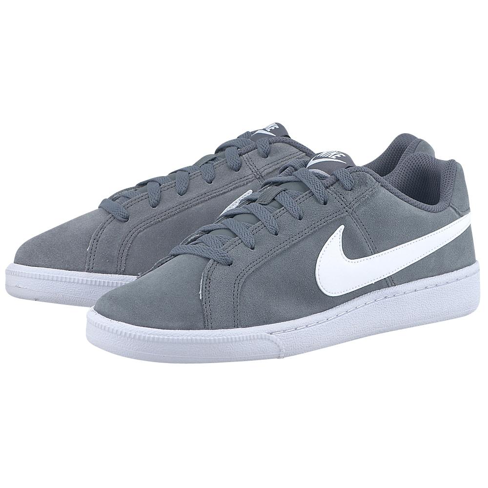 Nike - Nike Court Royale Suede 819802010-4 - ΓΚΡΙ ΣΚΟΥΡΟ