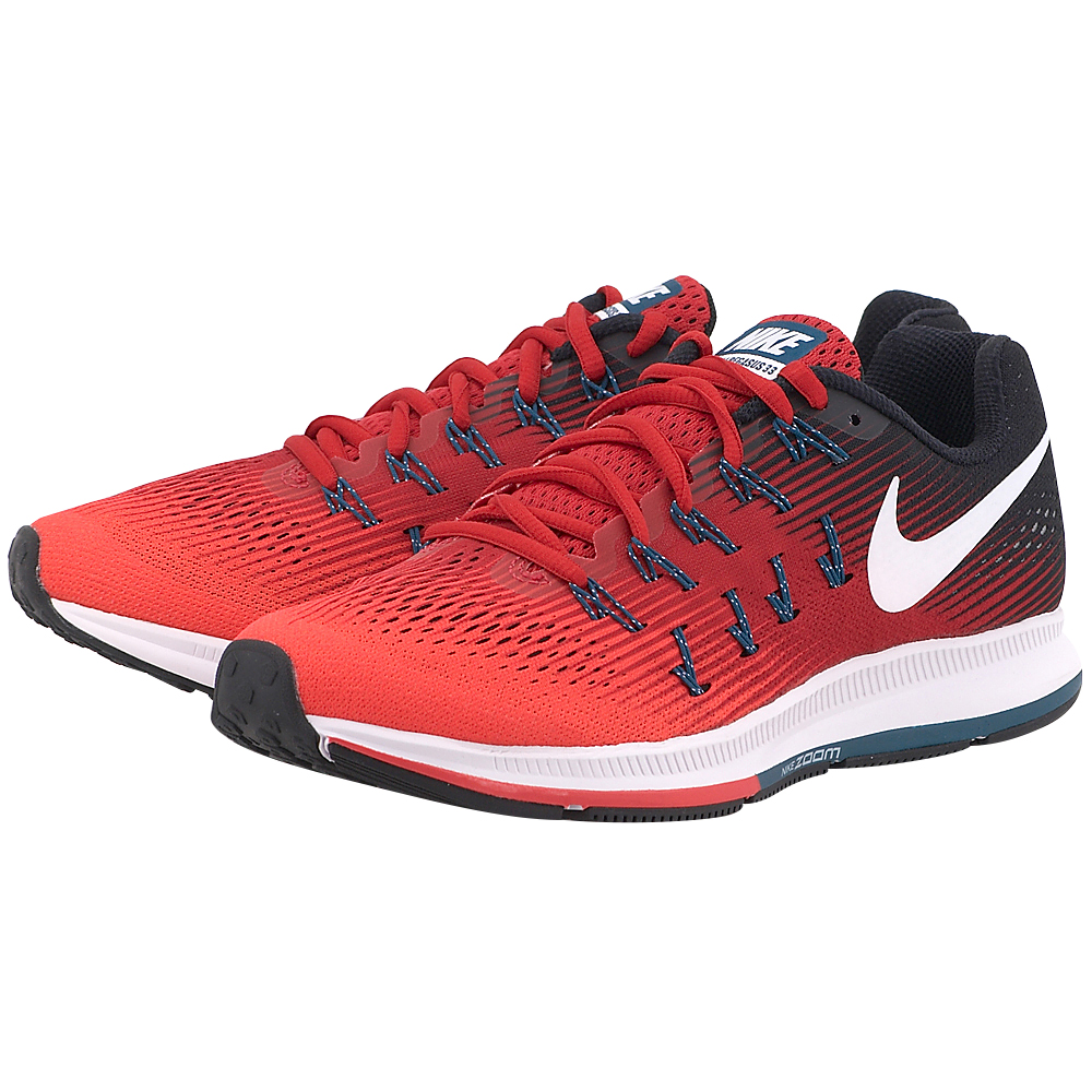 Nike - Nike Air Zoom Pegasus 33 831352-602 - ΚΟΚΚΙΝΟ/ΜΑΥΡΟ