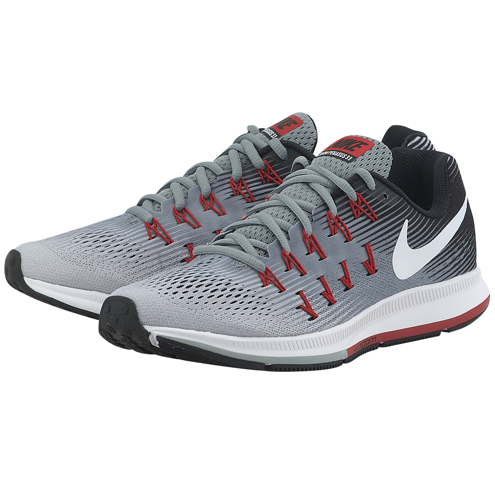 Nike - Nike Air Zoom Pegasus 33 831352009-4 - ΓΚΡΙ/ΜΑΥΡΟ