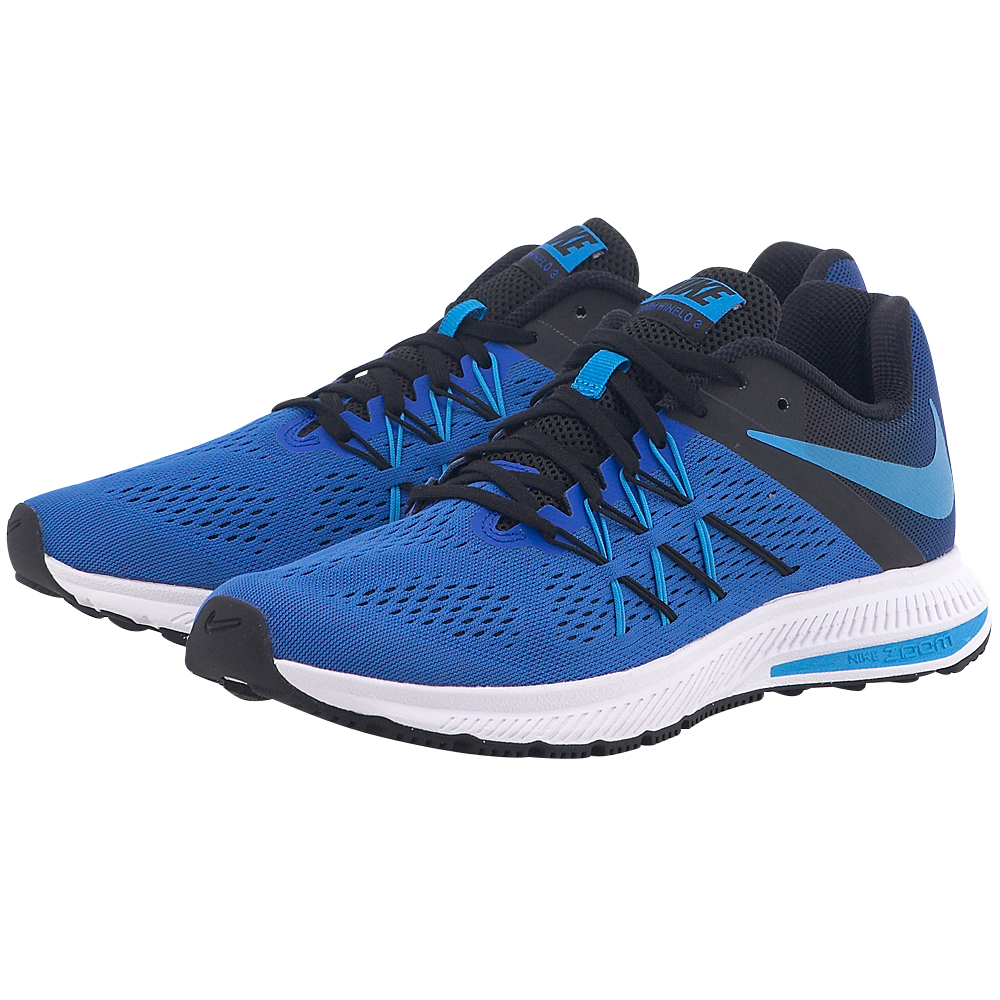 Nike – Nike Nike Air Zoom Winflo 3 Running Shoe 831561401-4 – ΜΠΛΕ/ΜΑΥΡΟ