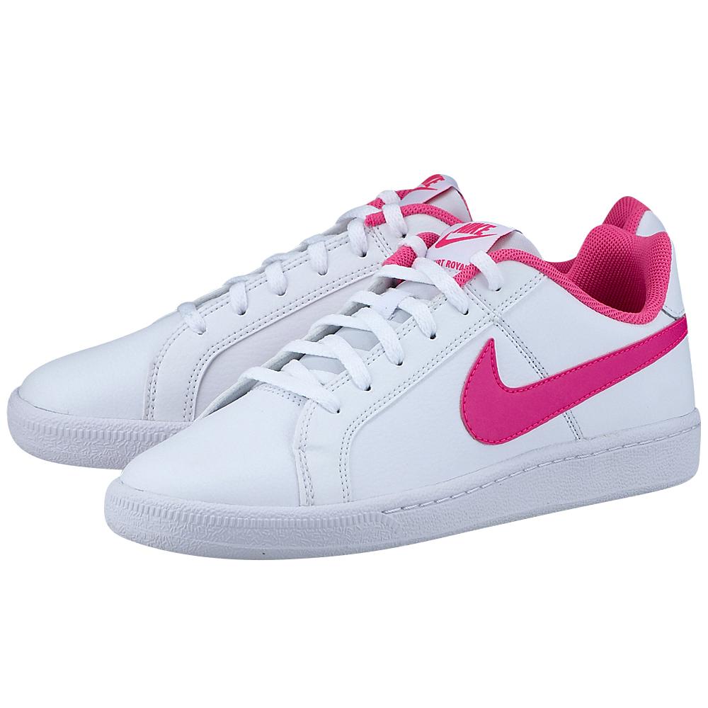 Nike - Nike Court Royale 833654-106 - ΛΕΥΚΟ/ΡΟΖ παιδικα   αθλητικά