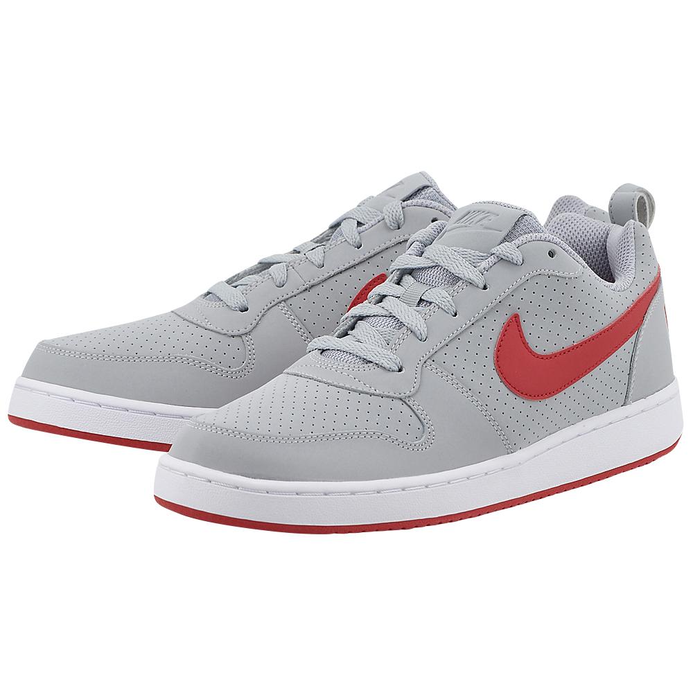 Nike - Nike Court Borough Low 838937-002 - ΓΚΡΙ ΣΚΟΥΡΟ