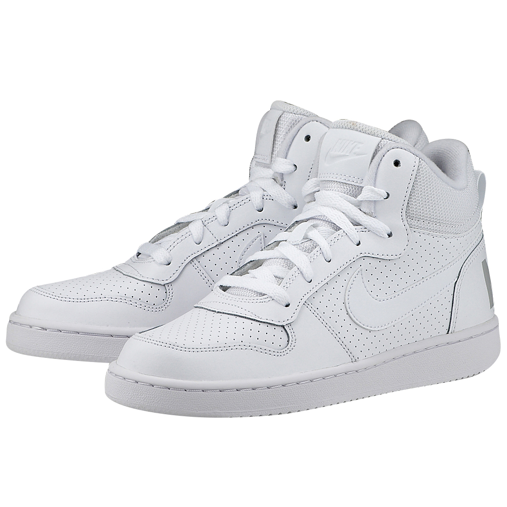 Nike - Nike Court Borough Mid (GS) 839977-100 - ΛΕΥΚΟ
