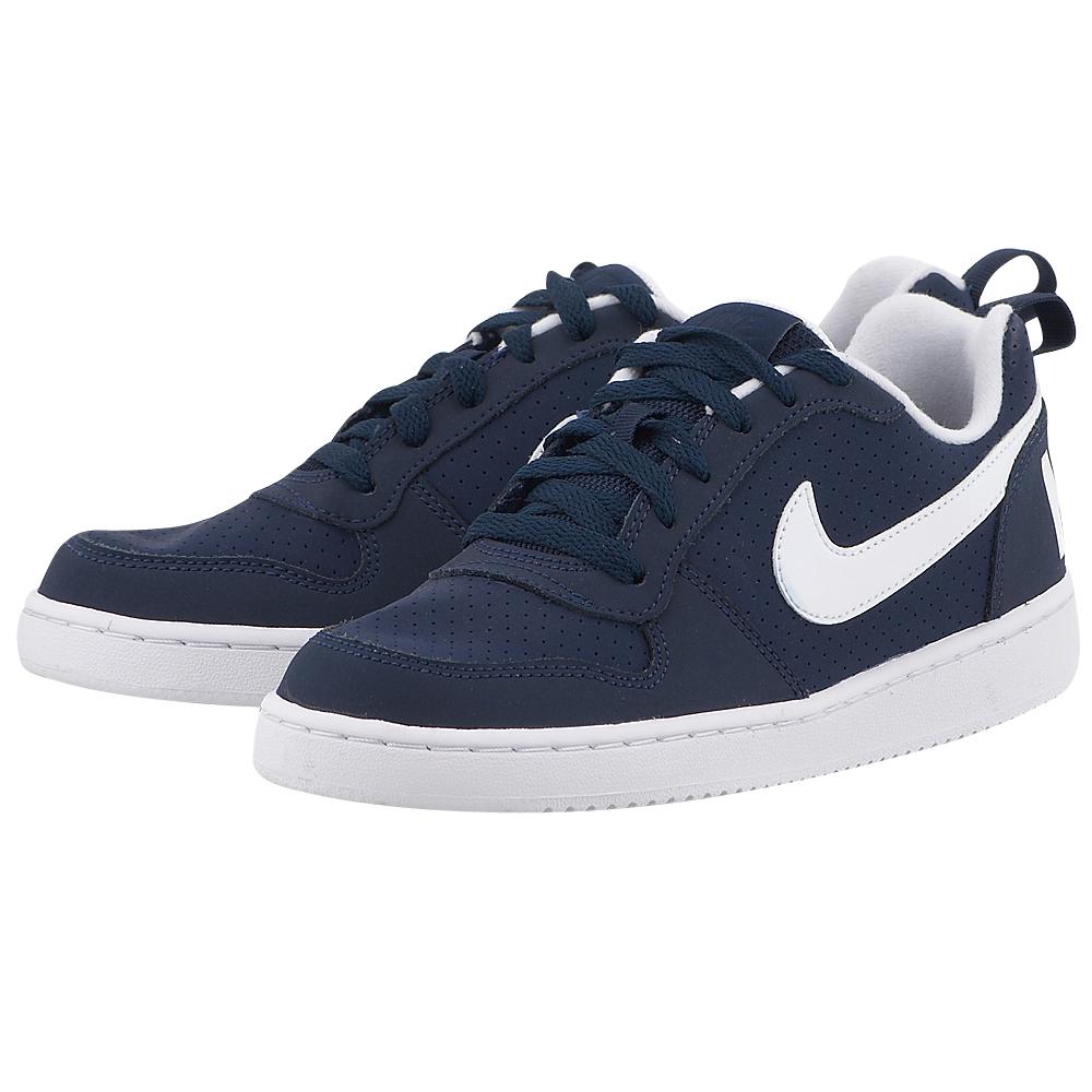 Nike – Nike Court Borough Low 839985400-3 – ΜΠΛΕ ΣΚΟΥΡΟ