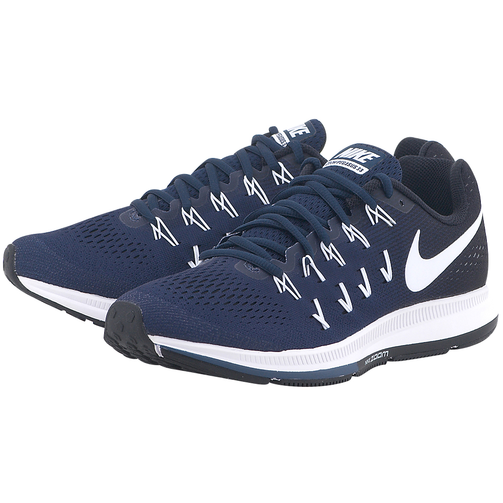 Nike – Nike Air Zoom Pegasus 33 TB 843802401-4 – ΜΠΛΕ ΣΚΟΥΡΟ