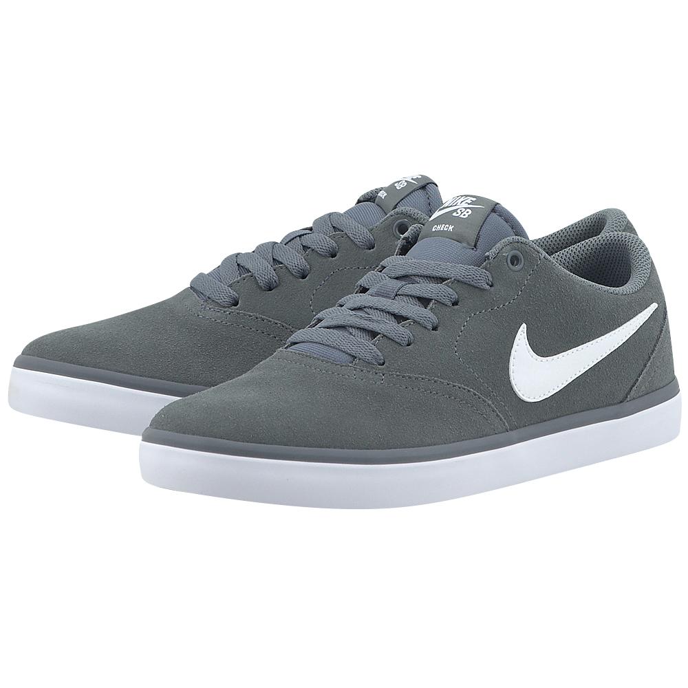 Nike – Nike Sb Check Solarsoft 843895005-4 – ΓΚΡΙ ΣΚΟΥΡΟ