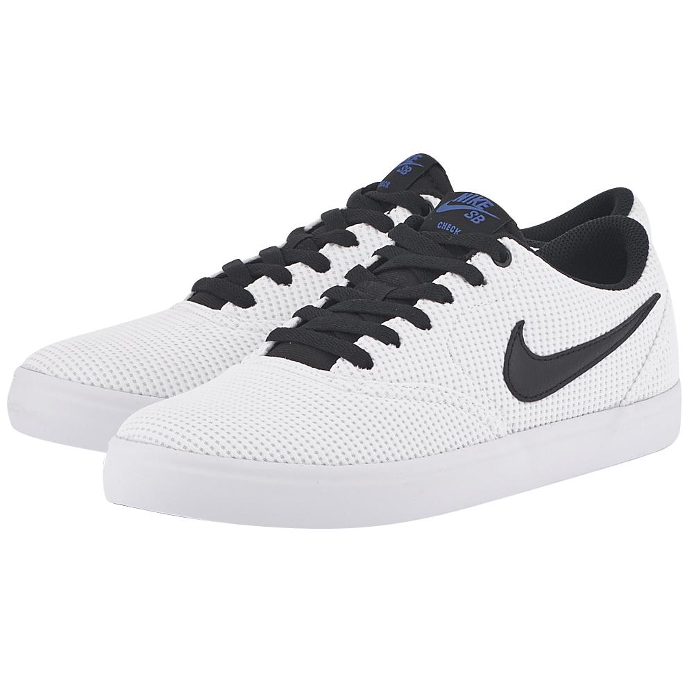 Nike – Nike SB Check Solarsoft Canvas Skateboarding 843896-100 – ΛΕΥΚΟ/ΜΑΥΡΟ