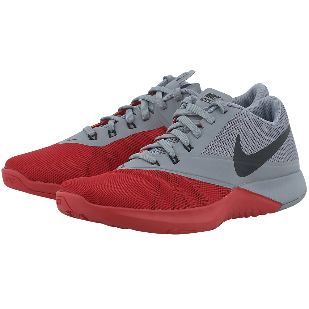 Nike - Nike FS Lite 4 844794600-4 - ΓΚΡΙ/ΚΟΚΚΙΝΟ ανδρικα   αθλητικά   training