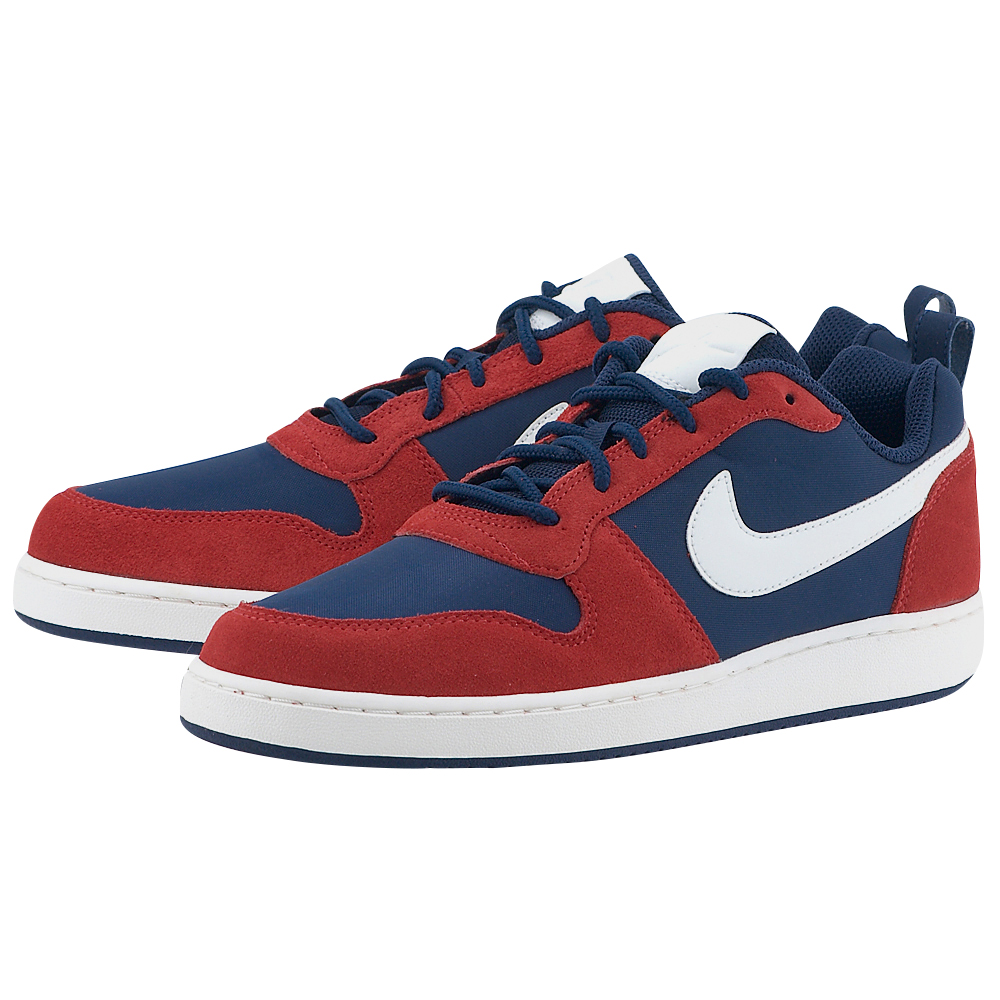 Nike – Nike Court Borough Low Premium 844881-401 – ΜΠΛΕ/ΚΟΚΚΙΝΟ