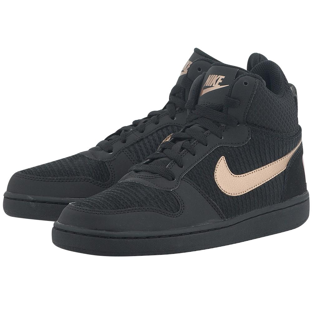 Nike - Nike Recreation Mid-Top Premium Shoe 844907002-3 - ΜΑΥΡΟ