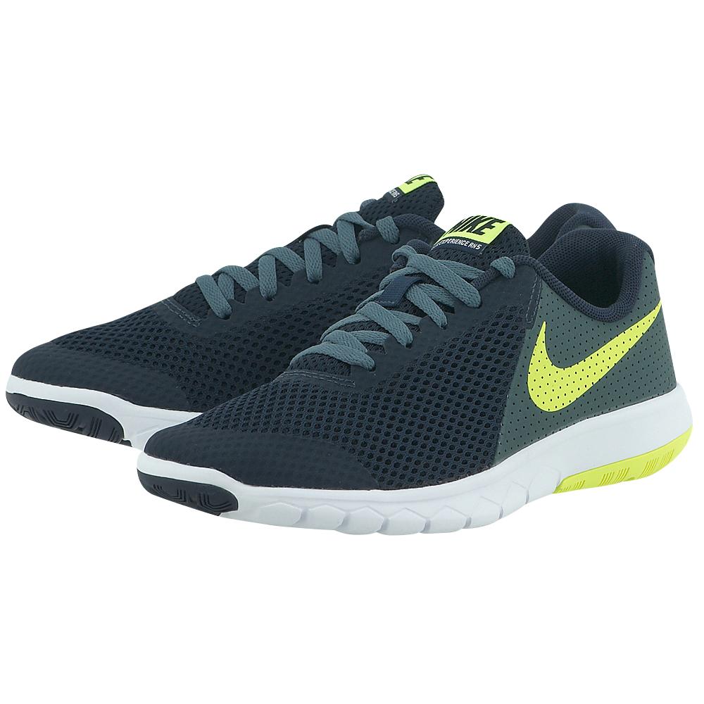 Nike - Nike Flex Experience 5 (GS) Running Shoe 844995401-3 - ΜΠΛΕ ΣΚΟΥΡΟ Nike