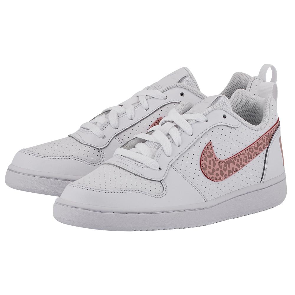 Nike - Nike Court Borough Low (GS) 845104-101 - ΛΕΥΚΟ