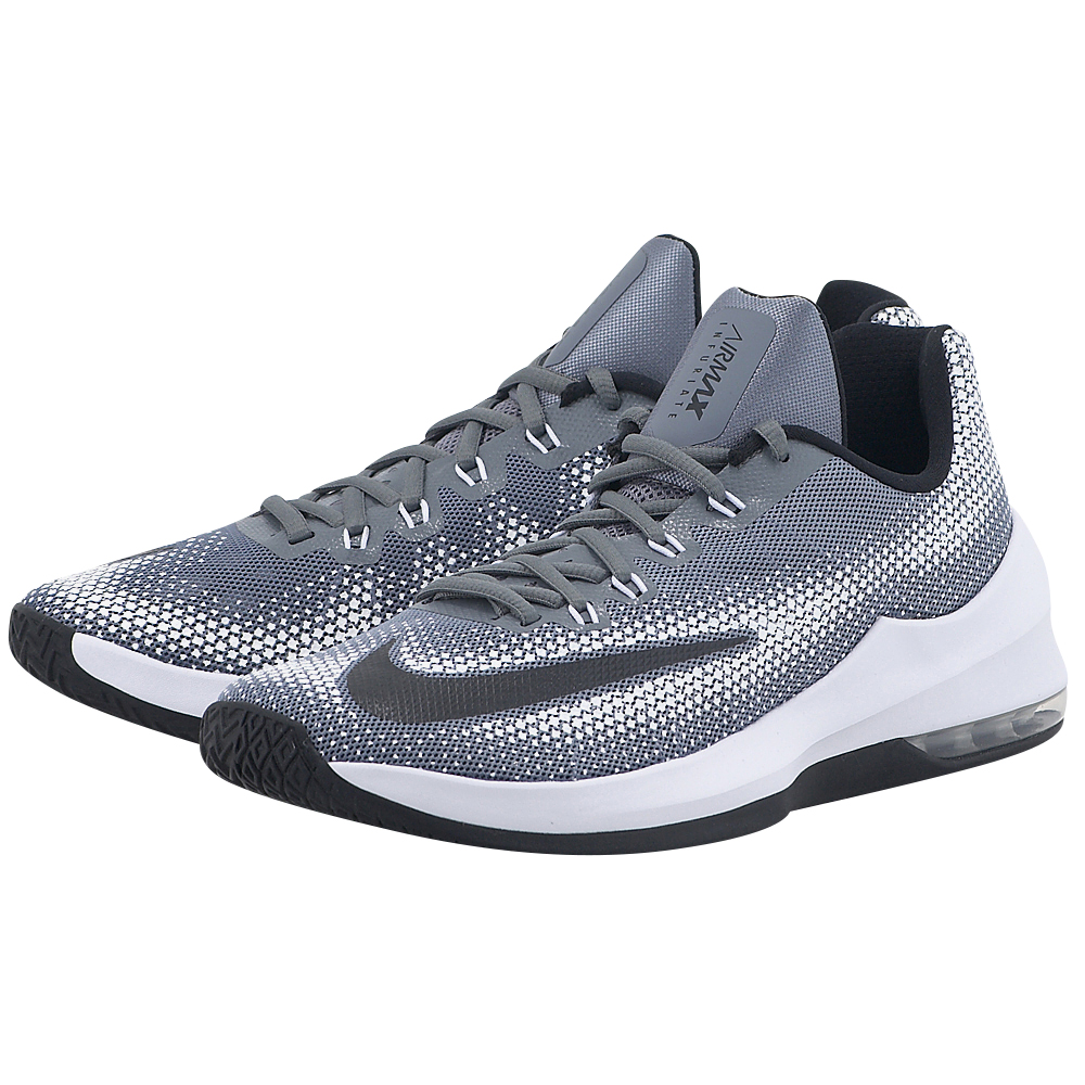 Nike - Nike Air Max Infuriate Low Basketball 852457-002 - ΓΚΡΙ/ΜΑΥΡΟ