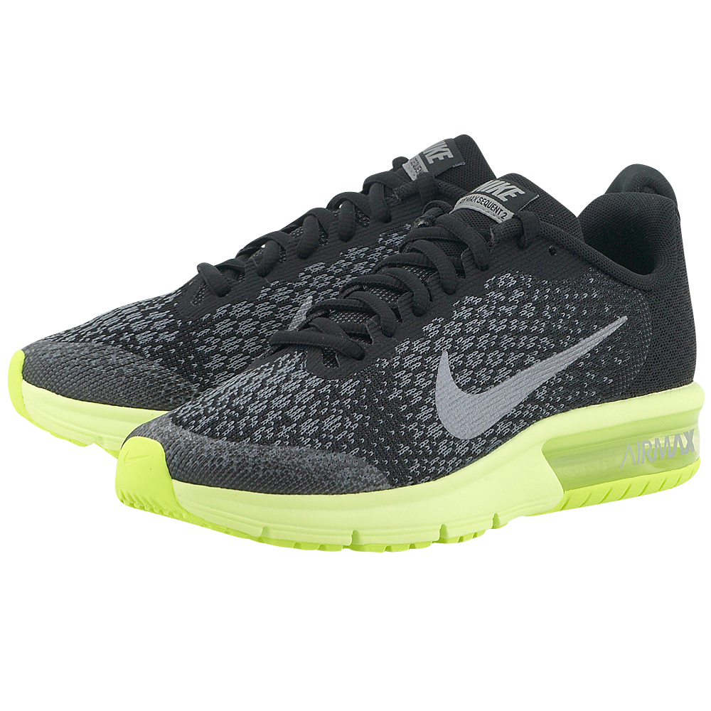 Nike - Nike Air Max Sequent 2 (GS) Running 869993-008 - ΜΑΥΡΟ