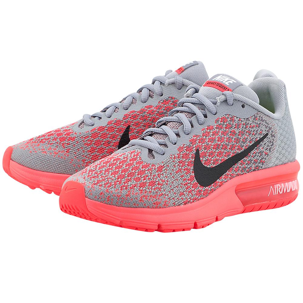 Nike - Nike Air Max Sequent 2 (GS) Running 869994-003 - ΓΚΡΙ/ΡΟΖ
