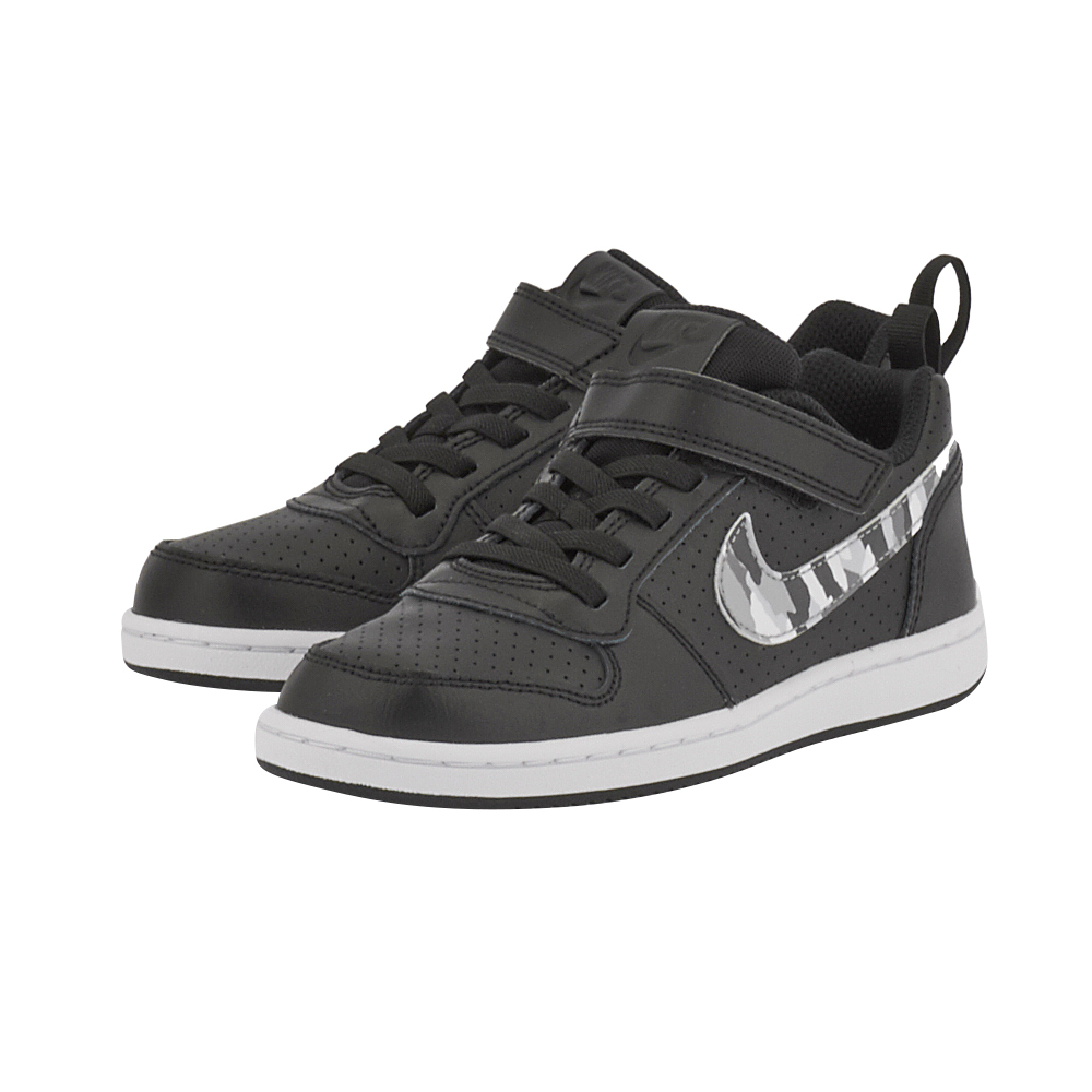 Nike - Nike Court Borough Low (PSV) 870025-005 - ΜΑΥΡΟ