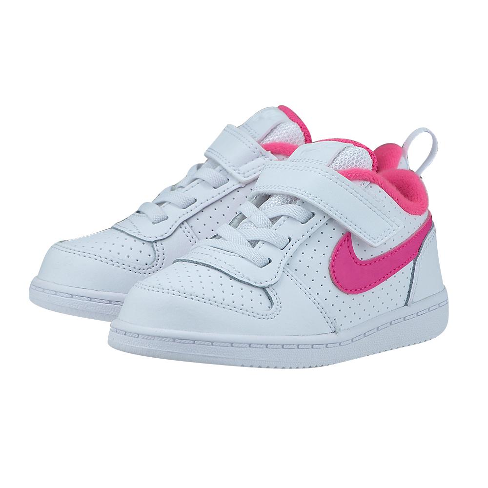 Nike - Nike Court Borough Low (TDV) Toddler 870030-100 - ΛΕΥΚΟ