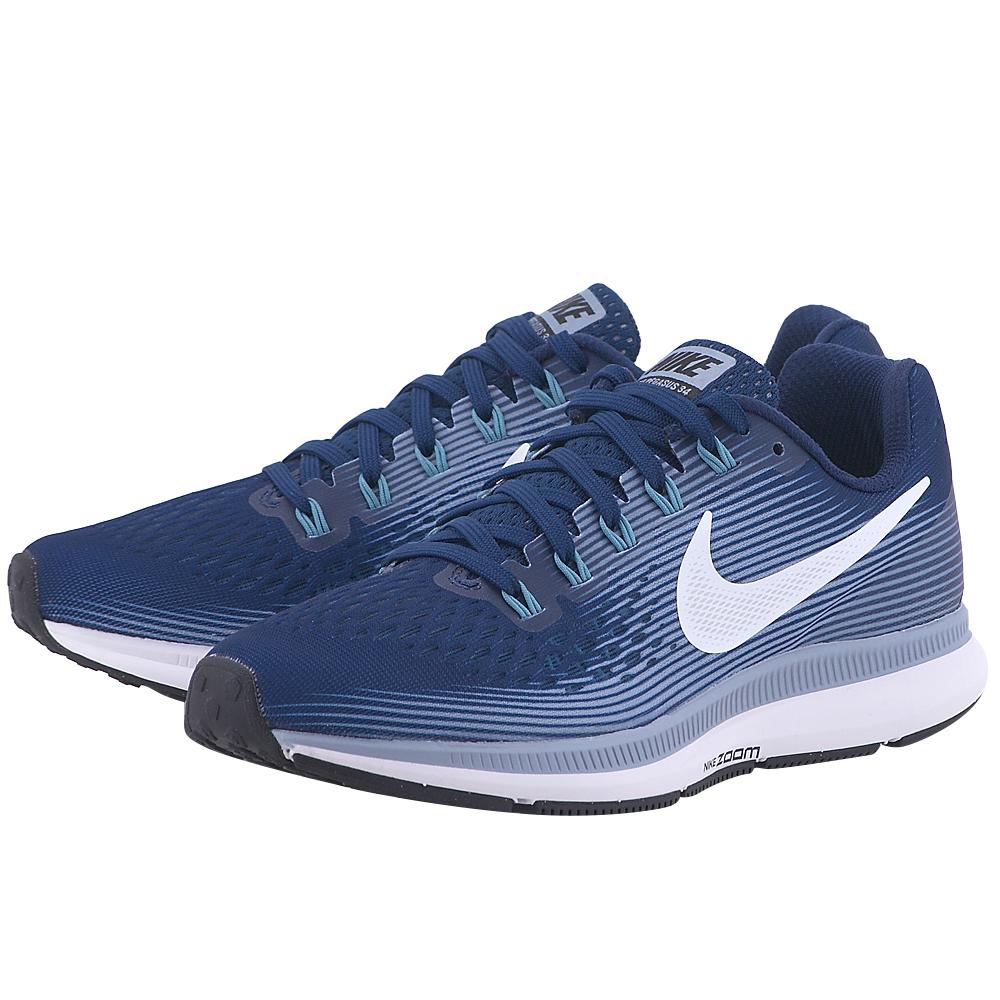 Nike - Nike Air Zoom Pegasus 34 Running 880560-402 - ΜΠΛΕ ΣΚΟΥΡΟ