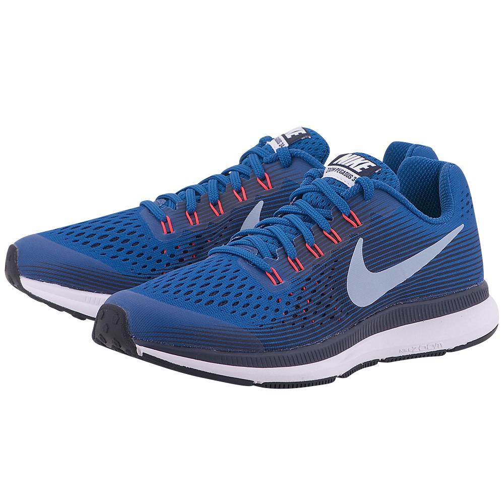 Nike - Nike Zoom Pegasus 34 (GS) Running 881953-401 - ΜΠΛΕ ΣΚΟΥΡΟ