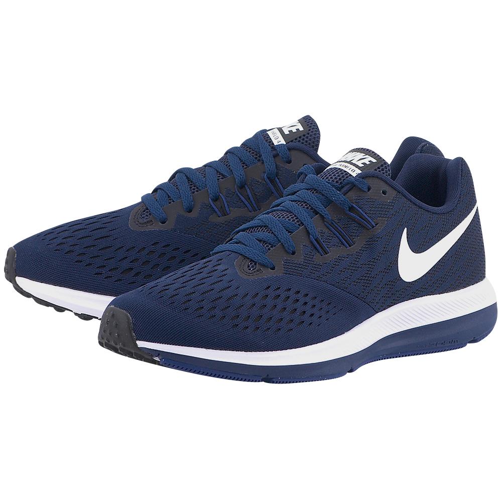 Nike - Nike Air Zoom Winflo 4 Running 898466-400 - ΜΠΛΕ ΣΚΟΥΡΟ