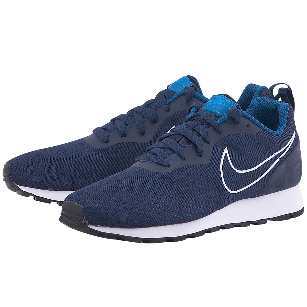 Nike - Nike MD Runner 2 Mesh 902815-400 - ΜΠΛΕ ΣΚΟΥΡΟ