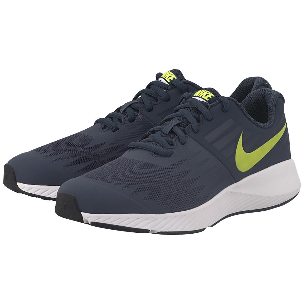 Nike - Nike Star Runner (GS) Running 907254-404 - ΜΠΛΕ ΣΚΟΥΡΟ