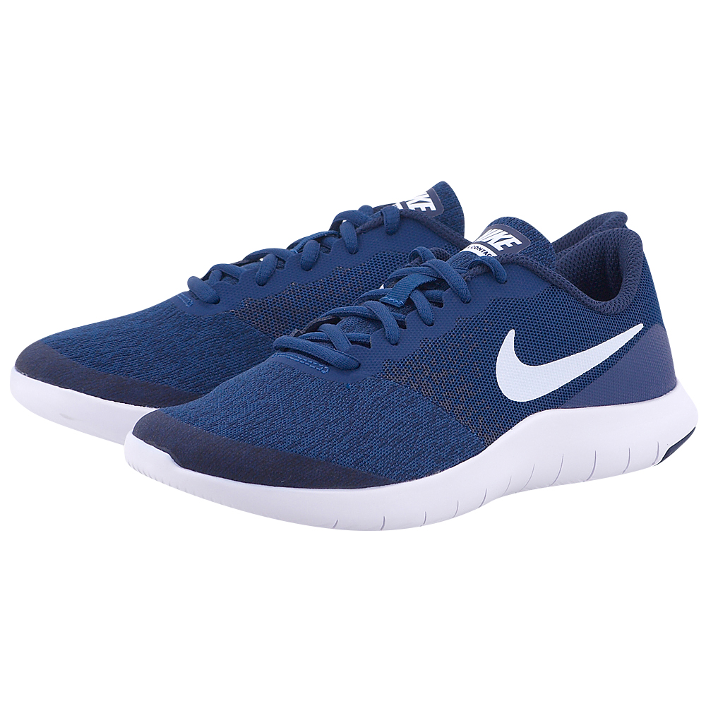 Nike - Nike Flex Contact (GS) Running 917932-400 - ΜΠΛΕ ΣΚΟΥΡΟ
