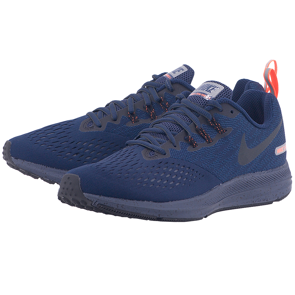 Nike - Nike Men's Air Zoom Winflo 4 Shield 921704-400 - ΜΠΛΕ ΣΚΟΥΡΟ