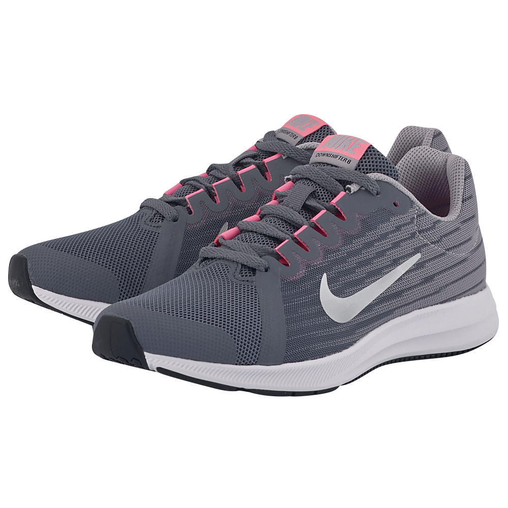 Nike - Nike Downshifter 8 (GS) Running 922855-002 - ΓΚΡΙ ΣΚΟΥΡΟ