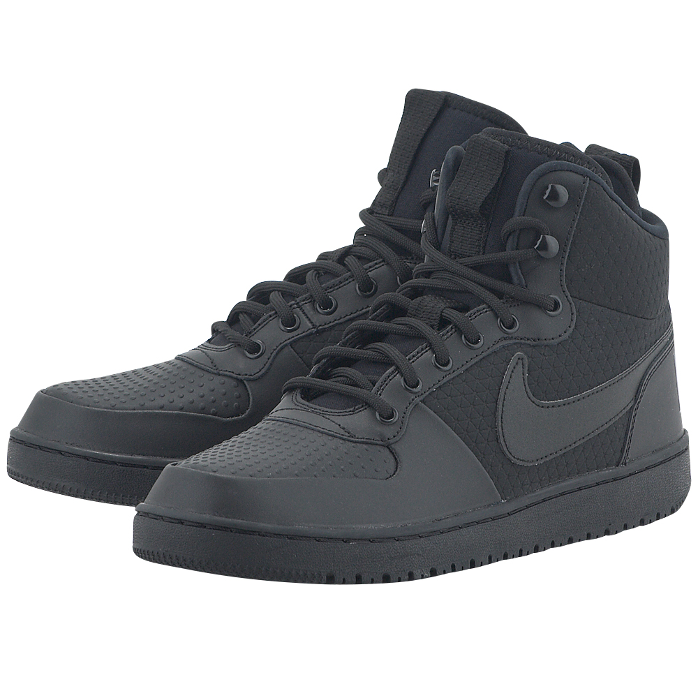 Nike - Nike Men's Court Borough Mid Winter Shoe AA0547-002 - ΜΑΥΡΟ