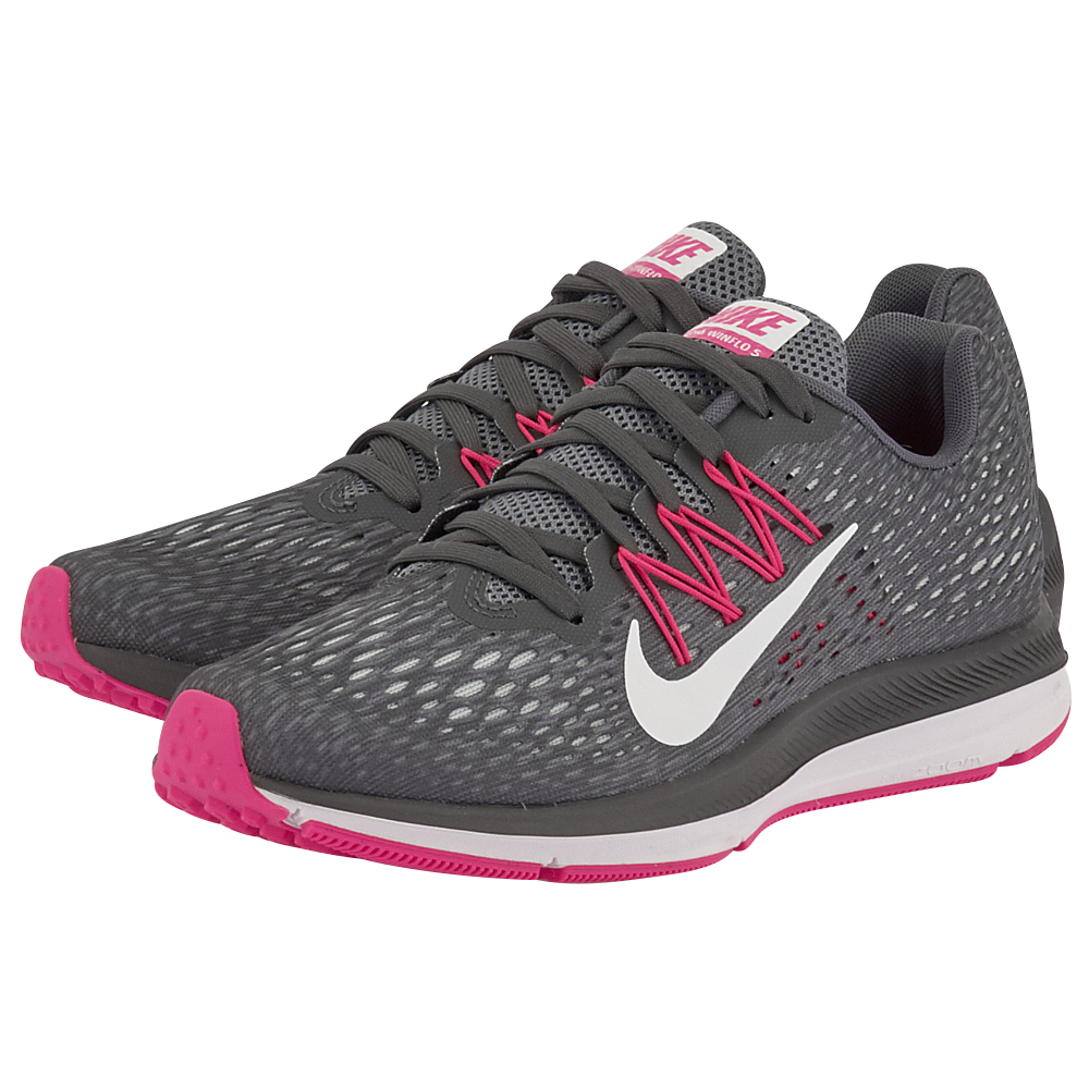 Nike - Nike Air Zoom Winflo 5 AA7414-011 - ΓΚΡΙ/ΦΟΥΞΙΑ