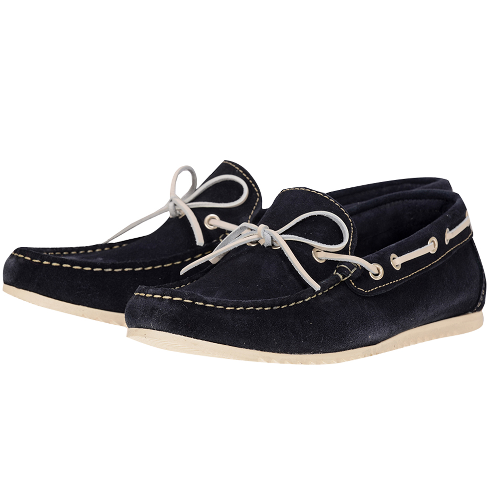 Alpe - Alpe ALP7225 - ΜΠΛΕ ΣΚΟΥΡΟ outlet   ανδρικα   loafers   με κορδόνι