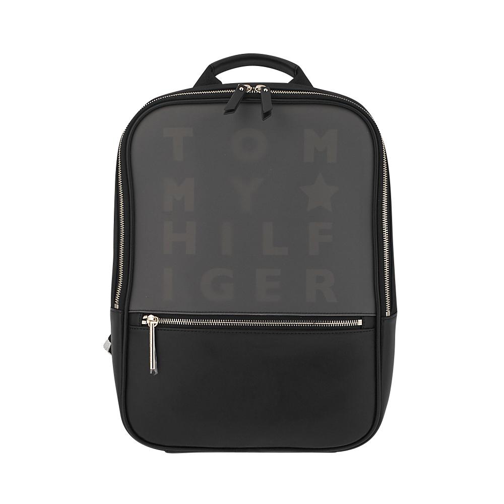 Tommy Hilfiger - Tommy Hilfiger Logo Story Backpack AW0AW05254-002 - ΓΚΡΙ/ΜΑΥΡΟ