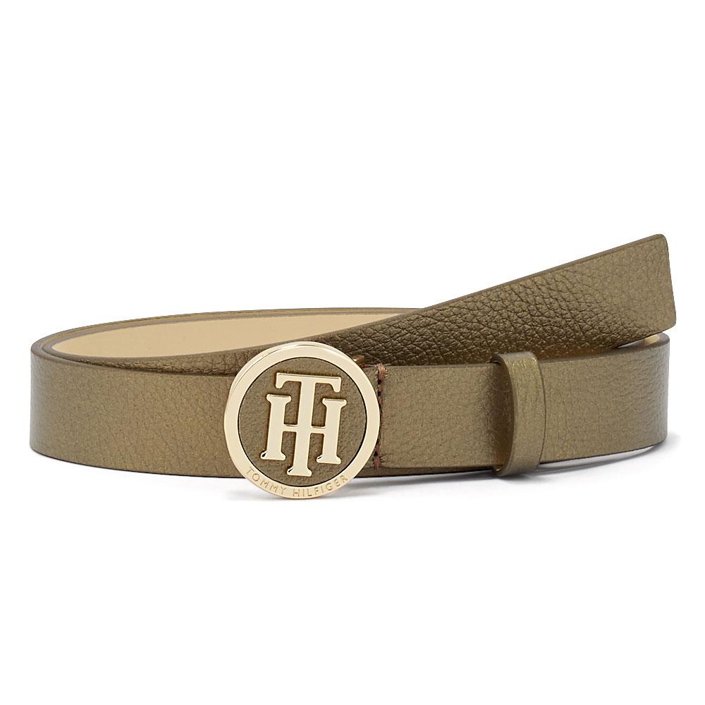 Tommy Hilfiger - Tommy Hilfiger Th Round Metallic Belt 3.0 AW0AW08134-0HW - 00826